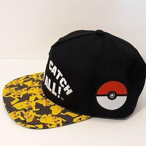 Pokemon Pikachu Catch Em All Baseball Hat OSFM